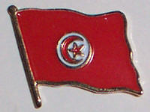 Tunisia Country Flag Enamel Pin Badge
